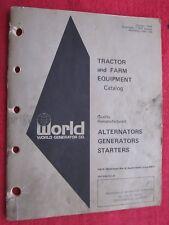 1976 World Generator Co. Tractor & Farm Alternators Generators Starters Catalog