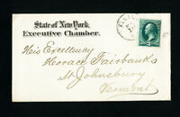 US Stamps Advertising Cover State of NY Executive Chamber to Horace Fairbanks
