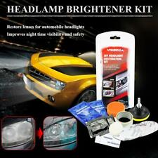 Car Head Light Cleaner Brightener Headlight Lenses Restoration Clean Polish Kit
