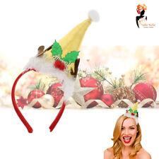 Babbo Natale Cappello Novità Cerchietto D Oro Lucido Ufficio Festa Di Natale  Costume Vestito 5aa76b214c76