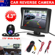"170°Car Rear View Kit 4.3""TFT LCD Monitor+HD IR Night Vision Reversing Camera YW"