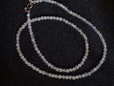 Kette Lapradorit Perlen Stein Halskette Collier Kugel Perle Heilstein Spektrolit