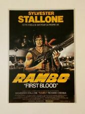 carte postale cinéma film Rambo Sylvester Stallone First Blood