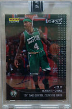 Isaiah Thomas BOSTON CELTICS PANINI INSTANT PLAYOFFS 4/23 #337 BLACK 1/1 AUTO!!!