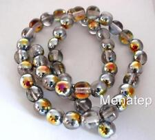 25 8mm Czech Glass Round Beads: Crystal/Marea