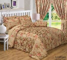 DOUBLE BED ANASTASIA BEDSPREAD AND PILLOW SHAM SET LUXURIOUS QUILTED THROW OVER