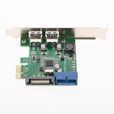 PCI Express PCI-E Controller Card Adapter 4-Port USB 3.0 15-pin SATA Low Profile