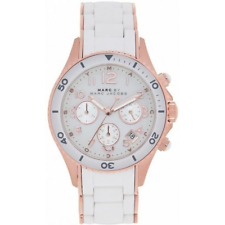 Marc Jacobs Da donna CHRONOGRAP Rock Watch MBM2547 Quadrante Bianco Rrp £ 329.00