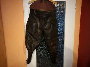 Breeches Lederhose Krad-Hose Militär Oldtimer Motorrad-Leder-Stiefel-Hose