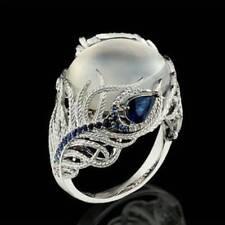 Fashion Women Huge Moonstone Wedding Engagement Rings Jewelry Gift Size 6-10