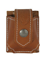 New Barsony Tan Leather Belt Clip Revolver Speed Loader Pouch .22 .38 .357