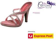 High (3 in. to 4.5 in.) Clubwear Open Toe Synthetic Heels for Women