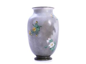 Antike Glasvase Baccarat - Blumendekor - Frankreich