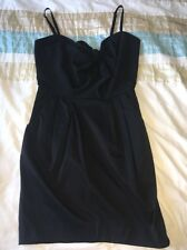 Pequeño vestido negro LBD H&M fiesta noche Burbuja Vestido Talla 10 arco Baile de graduación
