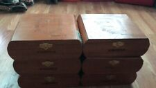 Empty Wooden Cigar Boxes Set Of 6