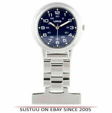Lorus RG251DX9 Nurses Fob Watch - Silver with Blue Dial