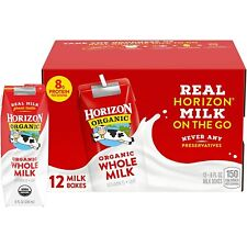 Organic Whole Milk   Organic Milk  8 Ounce 12 Count