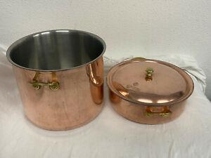 2 Stück Spring Culinox Kupfer Kochtopf groß mit einem Deckel