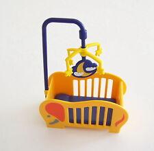 PLAYMOBIL (R263) MAISON MODERNE - Lit Orange avec Mobile pour Bébé Chambre 3207