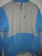 Womens JacketCoatOuterwear TheNorthFace Polartec BlueGray Fleece SzM GUC