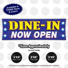 Dine In Now Open Banner Restaurant Open Sign Carry Take Out Delivery Abierto