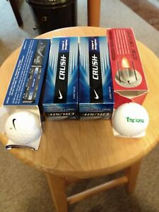 NEW Nike Crush (9) Power Distance (3) Golf Balls - White, with Sleeves