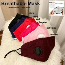 Face Mask Breathable upgraded with Valve with 2pcs mask filterFace Mask