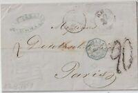 1859 PREFILATELICA CON TESTO DA ROMA X MARSIGLIA PARIGI FRANCIA