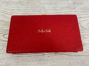 VTG Manicure Nail Kit Scully & Scully Red Calfskin Case Travel Manicure Set /r