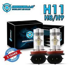 2X IRONWALLS H8 H11 H9 Fog Light 6000K White LED Driving Bulb DRL 12V 24V 100W