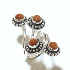 Stylish Ring Silver Plated Sunstone Gemstone Handmade Fashion jewelry