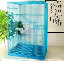 4 Tiers Small pet Ferret Cage, Hamster, Mice.Blue with Blue tray. 17�x 12�x24�