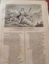 LA FONTAINE. L'HYMÈNÈE ET L'AMOUR. FABLE ET GRAVURE 1834