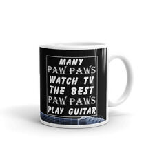 Many Paw Paws Watch Tv The Best.Guitar Cup Gift Coffee Tea Ceramic Mug