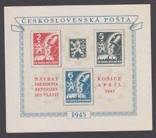 Czechoslovakia 1945 Kosice, - Imperforated Miniature Sheet - MNH,