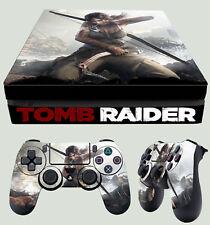 PS4 Fino Piel Tomb Raider Lara Croft Definitive + Pad Pegatinas vinilo NUEVO LAY