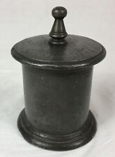 EARLY ANTIQUE PEWTER TOBACCO JAR, WITH LID, Georgian
