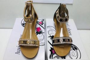 Sandals women shoe ladies designer zip up back resort wedding