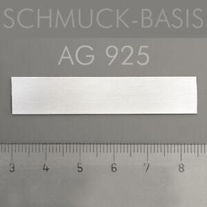 Silberblech echt 0,5 mm - 925 Sterlingsilber 55 x 11 mm