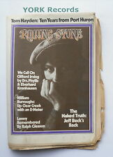 ROLLING STONE MAGAZINE - Issue 120 October 26th 1972 - Clifford Irving / J. Beck