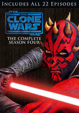 Star Wars: The Clone Wars - The Complete Season Four (DVD, 2012, 4-Disc Set)