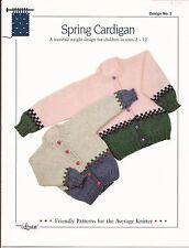 Design by Louise Knitting Pattern #2 Spring Cardigan Children's Sizes 2 - 12
