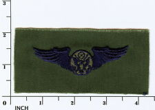 USAF Air Crew Member Basic PATCH subdued OD unused ! old-stock VINTAGE Air Force