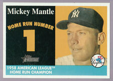MICKEY MANTLE 1958 TOPPS HERITAGE HOME RUN CARDS~THE ~COMPLETE~ 42 CARD SET!!