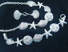 Seaside Oceanside Necklace/Bracelet/Earring Shells Starfish-19 inch