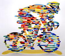 David Gerstein Modern Art Tour De France Cyclist Metal Sculpture  Bicycle Rider