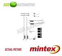 MINTEX REAR BRAKE SHOES SET FITTING KIT PIN SPRINGS GENUINE QUALITY - MBA829