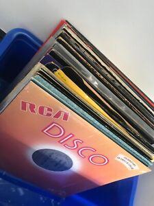 """Job lot 54 x soul, funk and disco vinyl 12"""" records."""