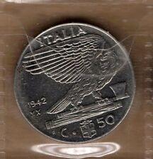 A589: Moneta Coin Regno d'Italia - Vittorio E III: 50 Cent Impero 1942 XX