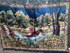 Vintage Hanging Tapestry- Woodland scene w/Pheasant 6'x4'
